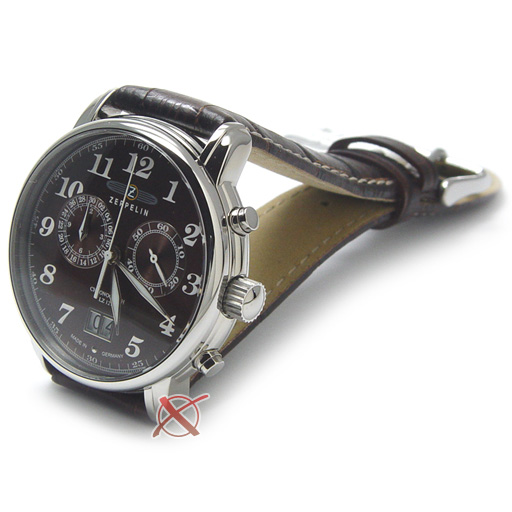 zeppelin uhr chronograph mit grossdatum ref 7684 3. Black Bedroom Furniture Sets. Home Design Ideas