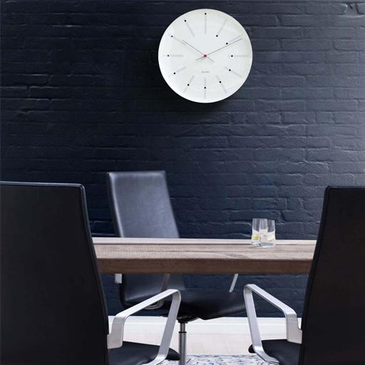 rosendahl arne jacobsen wanduhr bankers 29 cm 43640. Black Bedroom Furniture Sets. Home Design Ideas