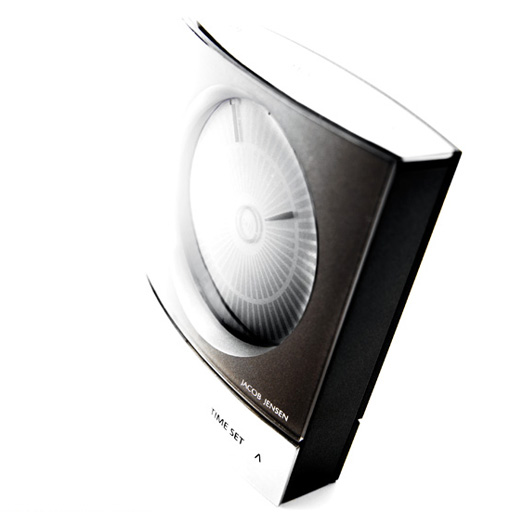 jacob jensen design wake up clock wecker anthrazit 32044 ebay. Black Bedroom Furniture Sets. Home Design Ideas