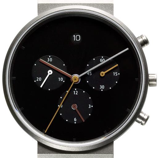 jacob jensen titan herrenuhr serie chronograph ref 600. Black Bedroom Furniture Sets. Home Design Ideas