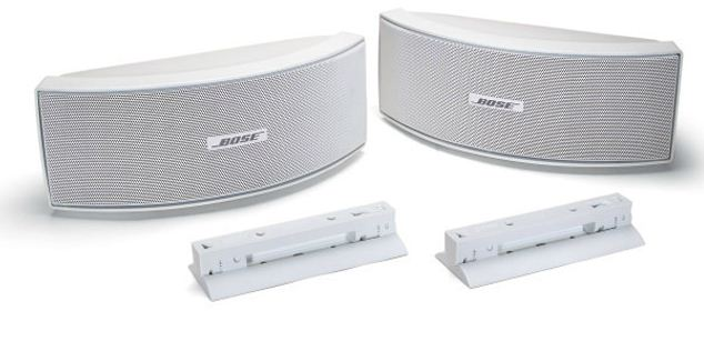 bose 151 environmental speakers se outdoor speakers white wall bracket new ebay. Black Bedroom Furniture Sets. Home Design Ideas