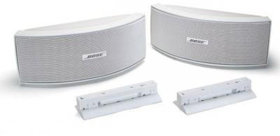 bose 151 environmental speakers se outdoor speakers white wall bracket new ebay. Black Bedroom Furniture Sets. Home Design Ideas