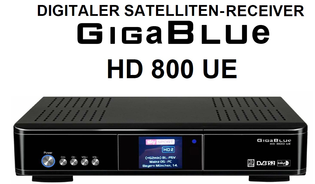 gigablue hd 800 ue linux satelliten hdmi receiver usb lan. Black Bedroom Furniture Sets. Home Design Ideas
