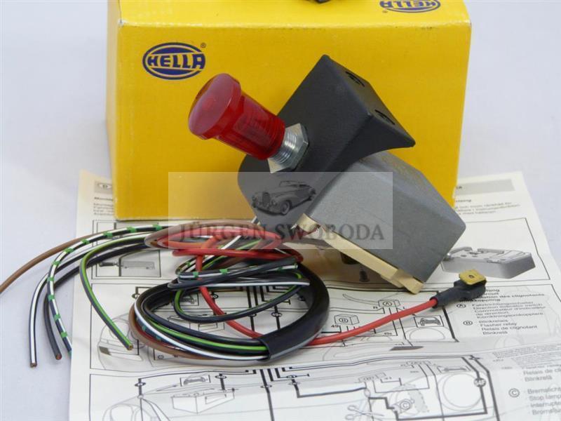 hazard warning switch 12 volt hella classic car horch auto. Black Bedroom Furniture Sets. Home Design Ideas