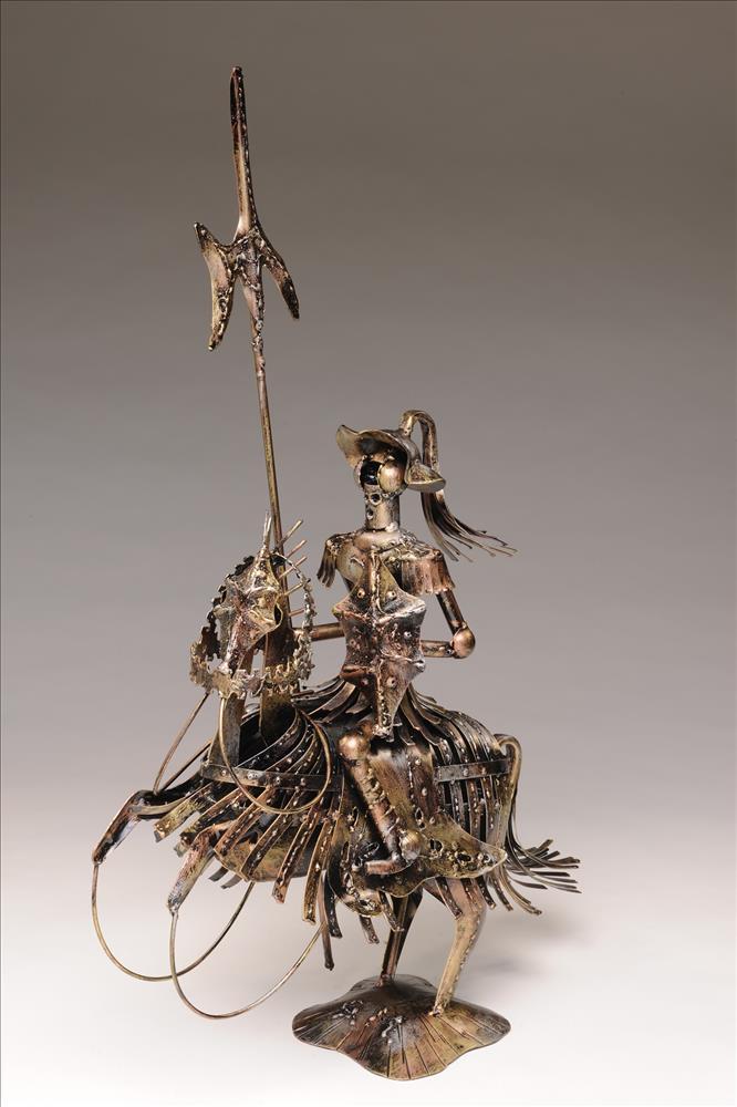 don quijote quixote reiter pferd ritter skulptur figur. Black Bedroom Furniture Sets. Home Design Ideas