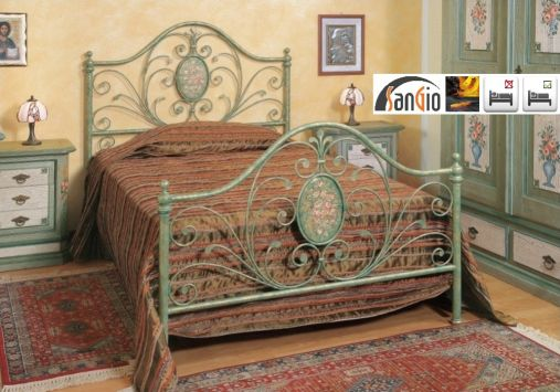 140x200 bianca metallbett jugendbett einzelbett metall designer bett italien t1 ebay. Black Bedroom Furniture Sets. Home Design Ideas