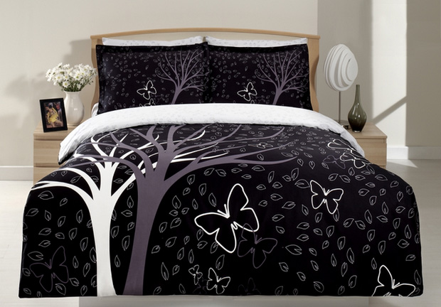 zdilek 4 tlg set bettgarnitur satin bettw sche 200x220 neu ebay. Black Bedroom Furniture Sets. Home Design Ideas