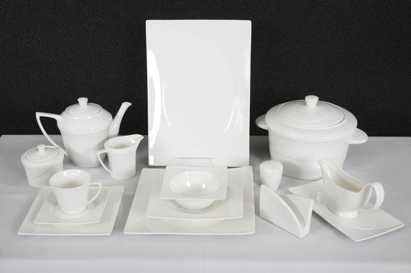 schillerbach tafelservice weiss 12 personen porzellan essservice geschirr neu ebay. Black Bedroom Furniture Sets. Home Design Ideas