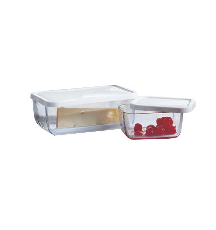 frischhaltedose aus glas mit deckel aufbewahrung vorratsbeh lter schale neu ebay. Black Bedroom Furniture Sets. Home Design Ideas