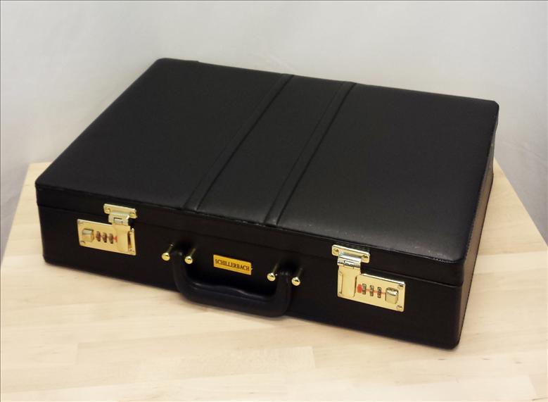 schillerbach besteckset besteck 84 tlg koffer tafelbesteck f r 12 personen 18 10 ebay. Black Bedroom Furniture Sets. Home Design Ideas