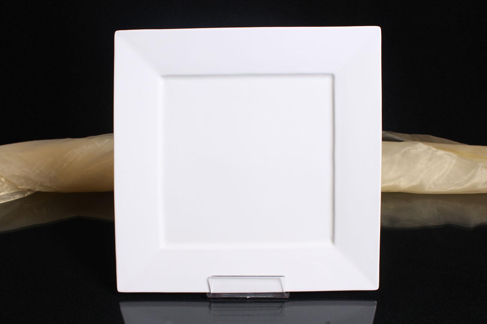 6x teller servierteller flachteller porzellan eckig wei gastronomiebedarf 31cm ebay. Black Bedroom Furniture Sets. Home Design Ideas