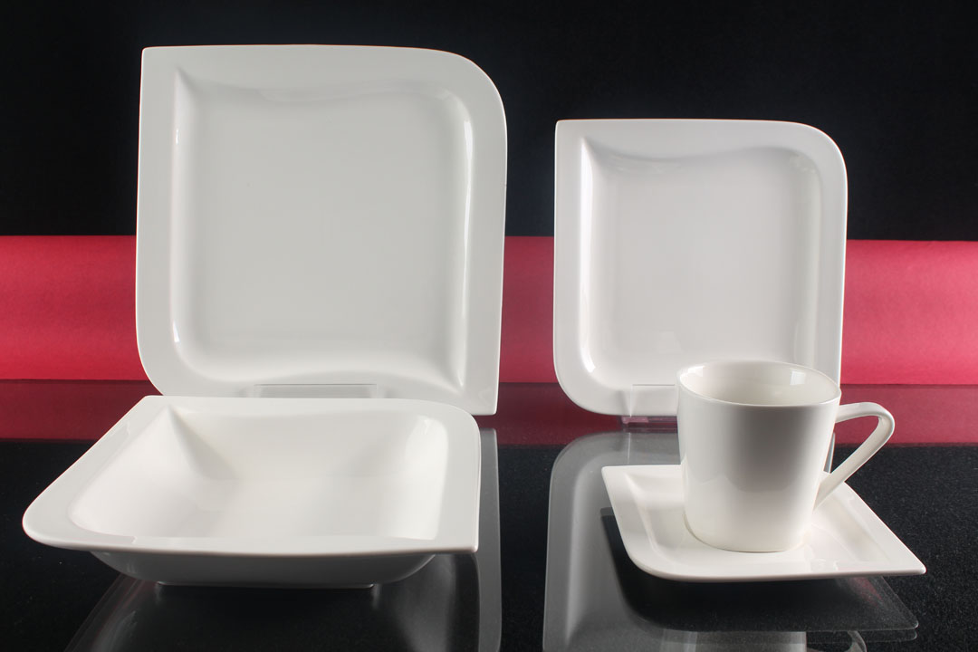 tafelservice wei 6 personen porzellan essservice geschirr 30 teile kombiservice ebay. Black Bedroom Furniture Sets. Home Design Ideas