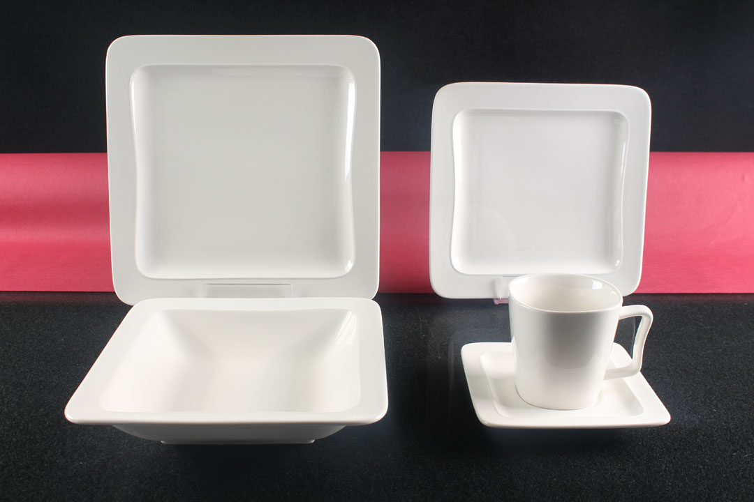 tafelservice wei 6 personen porzellan essservice geschirr 30 teile kombiservice. Black Bedroom Furniture Sets. Home Design Ideas