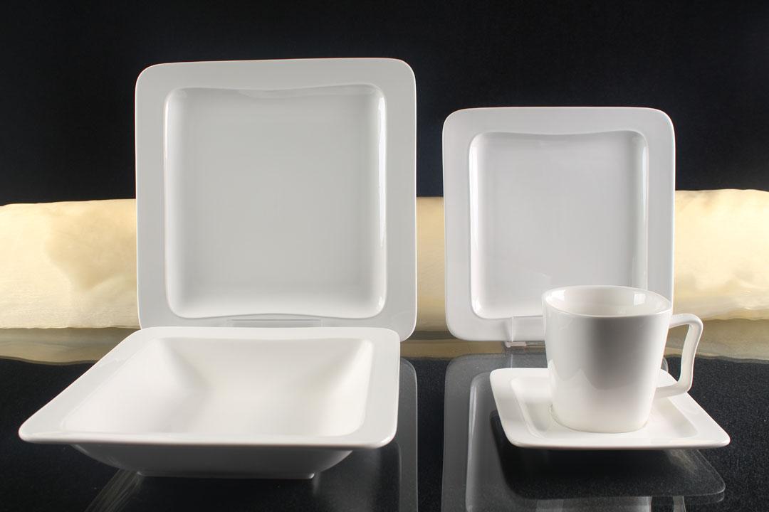 tafelservice wei 12 personen porzellan essservice. Black Bedroom Furniture Sets. Home Design Ideas