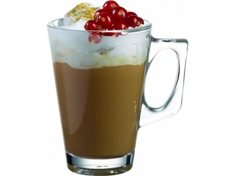 6 st ck tee gl ser teeglas kaffee latte cappuccino mit henkel ebay. Black Bedroom Furniture Sets. Home Design Ideas