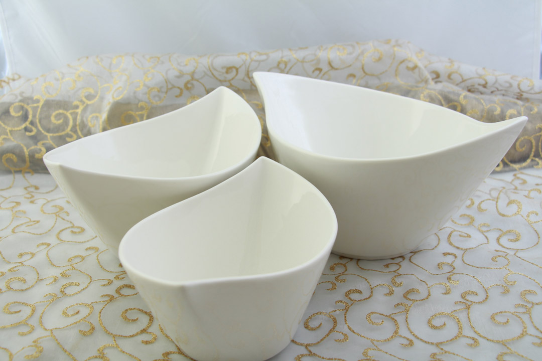 3er set schalen porzellan oval salatsch ssel sch sselsatz sch ssel sch sselset ebay. Black Bedroom Furniture Sets. Home Design Ideas