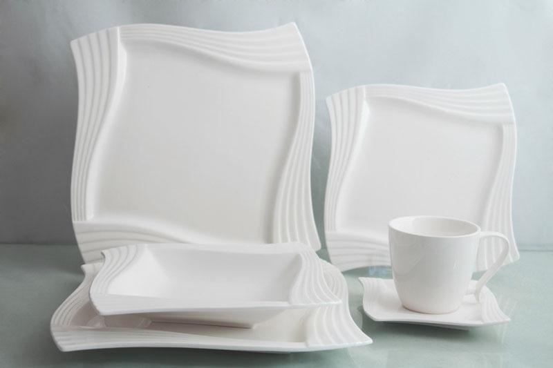 weiss tafelservice 30 teilig 6 personen porzellan set. Black Bedroom Furniture Sets. Home Design Ideas