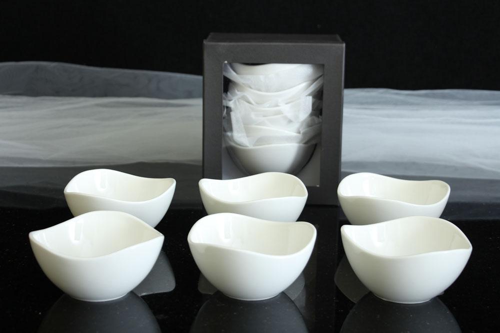 6 st ck geb ckschalen porzellen weiss sch lchen dessert schalen rund 12 cm ebay. Black Bedroom Furniture Sets. Home Design Ideas