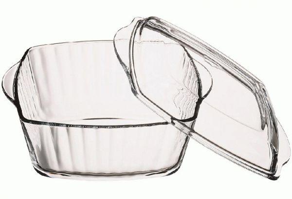 2x glas auflaufform 2 6l eckig mit deckel br ter sch ssel schale glasschale ebay. Black Bedroom Furniture Sets. Home Design Ideas