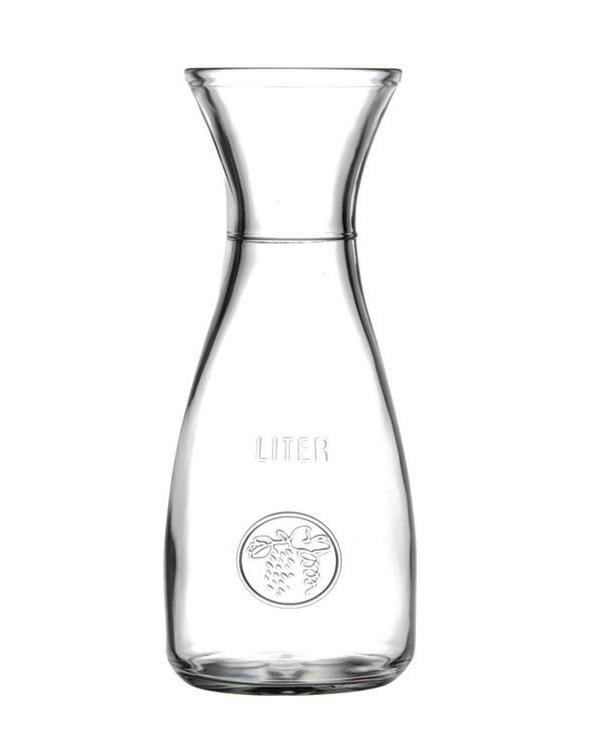 1l glaskaraffe wein wasser weinkaraffe glas dekanter ebay. Black Bedroom Furniture Sets. Home Design Ideas