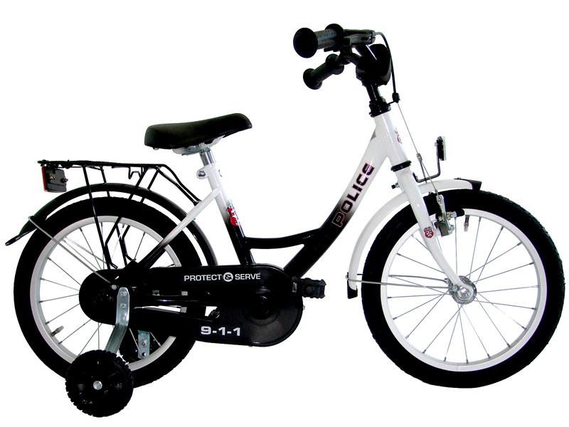 18 zoll kinderfahrrad us polizei fahrrad kinder rad ebay. Black Bedroom Furniture Sets. Home Design Ideas