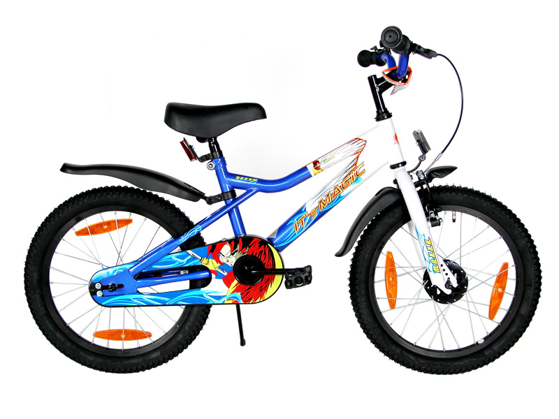 18 zoll kinderfahrrad fahrrad kinder comic rad blau it s. Black Bedroom Furniture Sets. Home Design Ideas