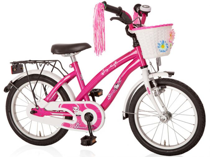 18 zoll m dchenfahrrad dream cat purpur weiss ebay. Black Bedroom Furniture Sets. Home Design Ideas