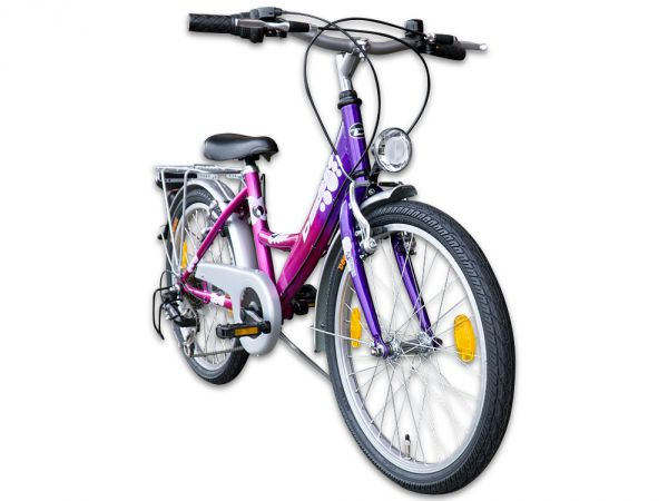 20 zoll m dchenfahrrad kinderfahrrad 6 gang fahrrad mit beleuchtung ebay. Black Bedroom Furniture Sets. Home Design Ideas