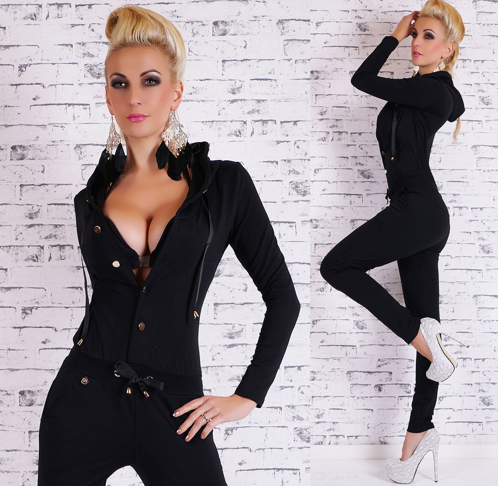 sexy damen sportlicher kurzarm overall jumpsuit jogging. Black Bedroom Furniture Sets. Home Design Ideas