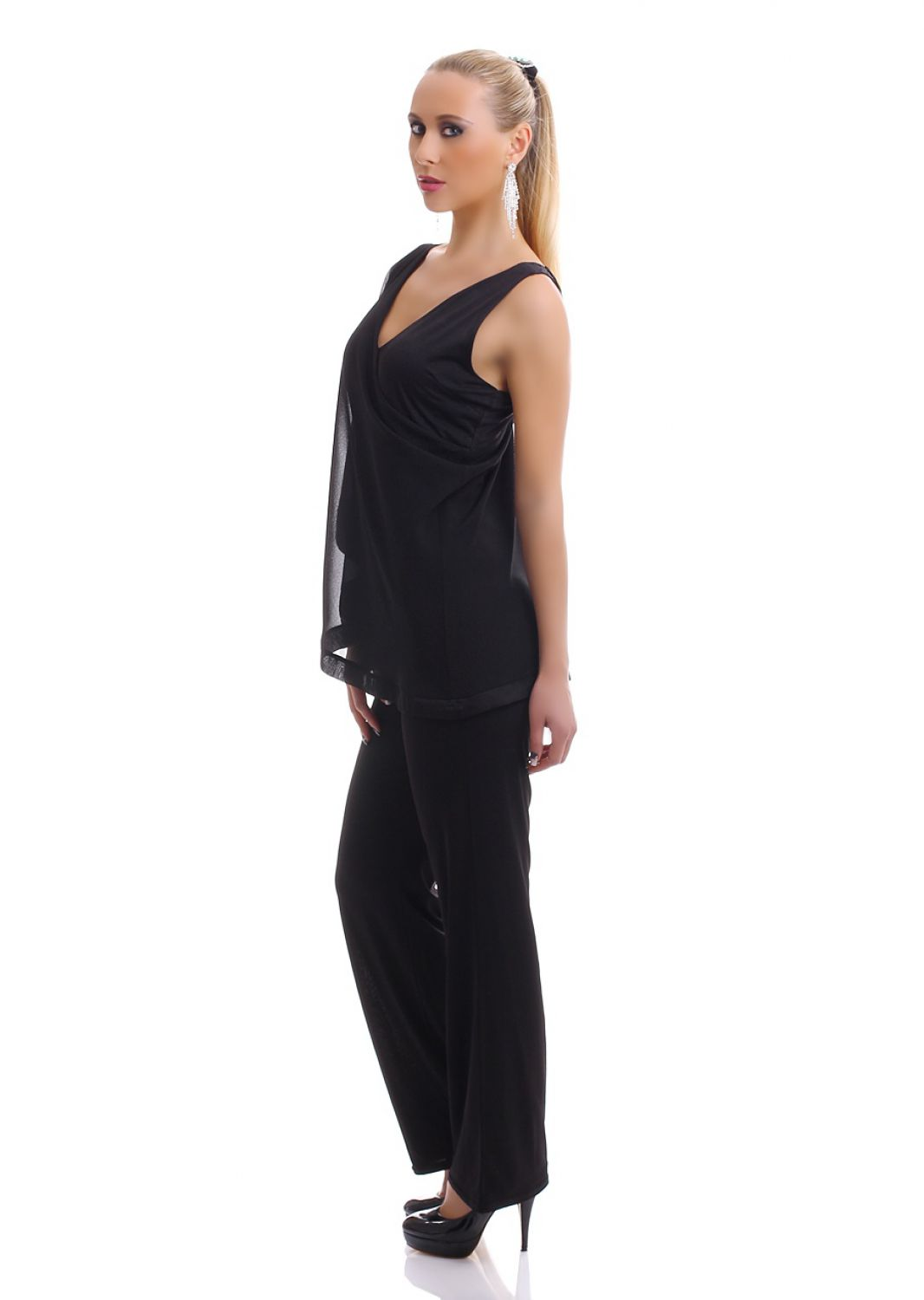damen eleganter overall jumpsuit einteiler hosenanzug. Black Bedroom Furniture Sets. Home Design Ideas