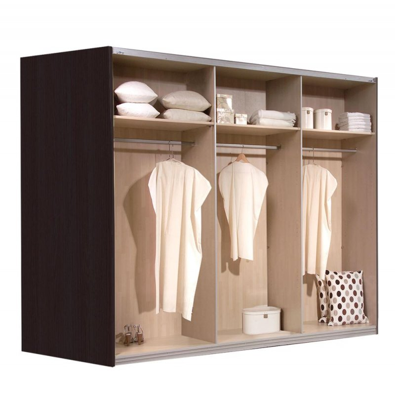 schwebet renschrank kleiderschrank walnuss eiche schoko ca 300 cm ebay. Black Bedroom Furniture Sets. Home Design Ideas