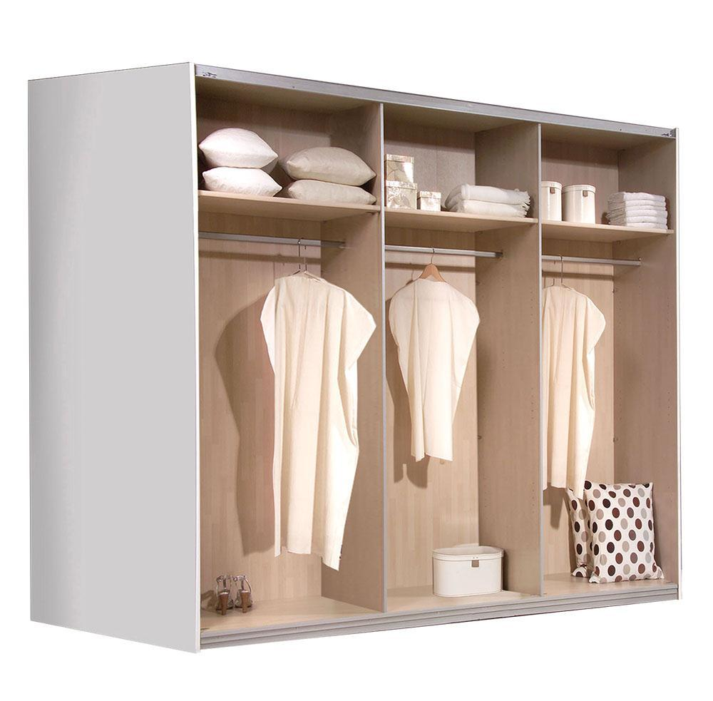 schwebet renschrank kleiderschrank schiebet renschrank weiss ca 270cm ebay. Black Bedroom Furniture Sets. Home Design Ideas