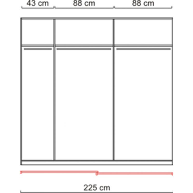 schwebet renschrank kleiderschrank spiegel weiss ca. Black Bedroom Furniture Sets. Home Design Ideas
