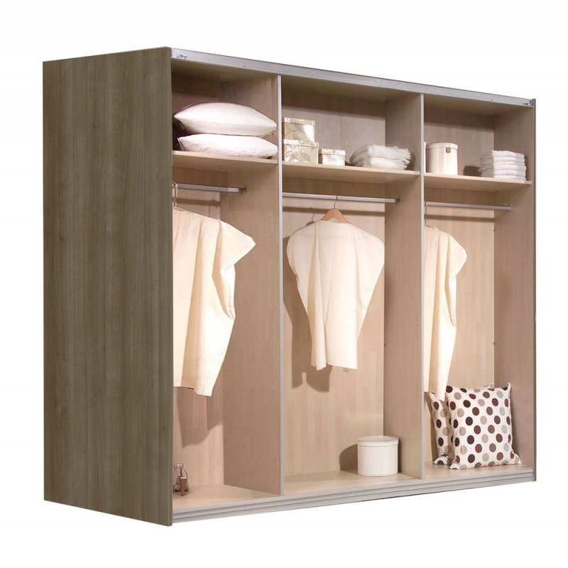 schwebet renschrank kleiderschrank schubkasten glas weiss noce ca 225 cm ebay. Black Bedroom Furniture Sets. Home Design Ideas