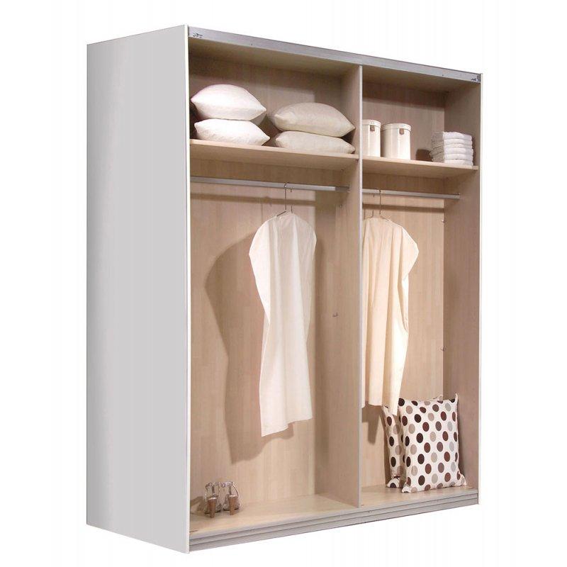 schwebet renschrank kleiderschrank weiss ca 200 cm ebay. Black Bedroom Furniture Sets. Home Design Ideas