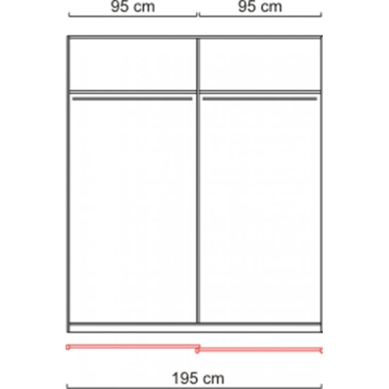 sliding wardrobe doors wardrobe white ca 200 cm ebay. Black Bedroom Furniture Sets. Home Design Ideas