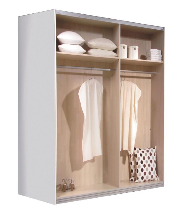 schwebet renschrank kleiderschrank weiss glas brombeer ca 200 cm ebay. Black Bedroom Furniture Sets. Home Design Ideas