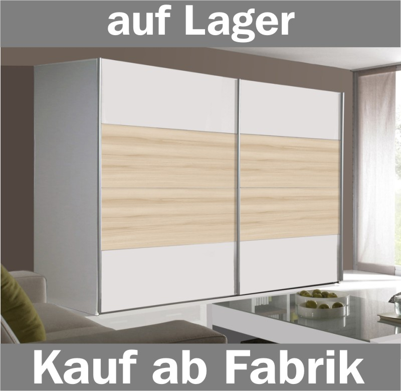 schwebetuerenschrank kleiderschrank weiss buche ca 300cm ebay. Black Bedroom Furniture Sets. Home Design Ideas