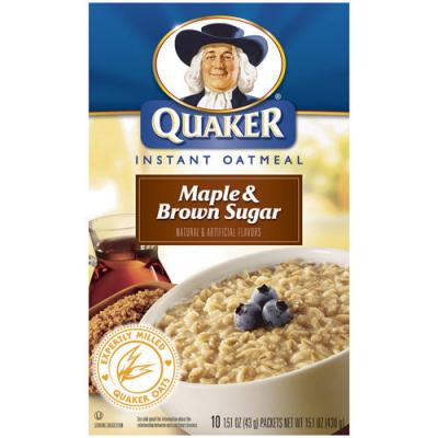 Quaker Instant Oatmeal - Maple & Brown Sugar (10x43g) (1.97 Euro pro ...