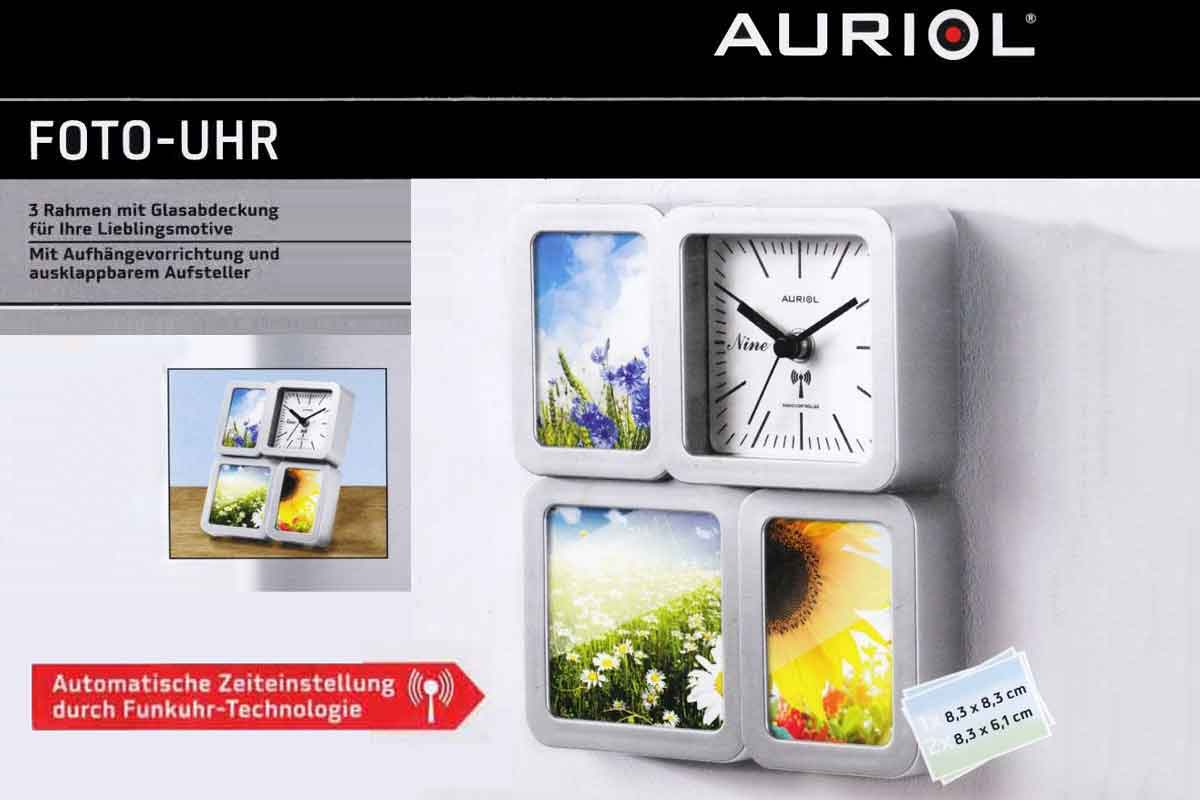 auriol foto uhr fotouhr foto wanduhr tischuhr mit funkuhr technologie neu. Black Bedroom Furniture Sets. Home Design Ideas