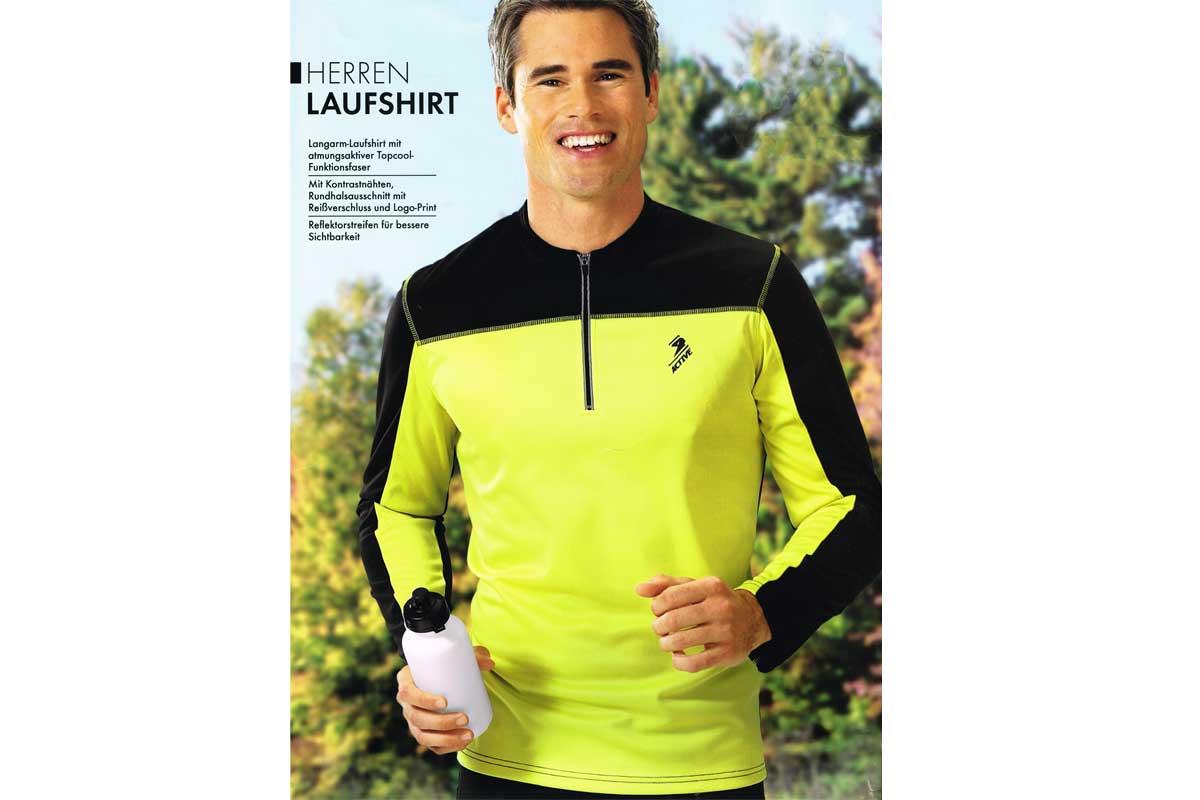 Herren Laufshirt Langarm Atmungsaktiv f Joggen Running Sport Fitness NEU M L XL