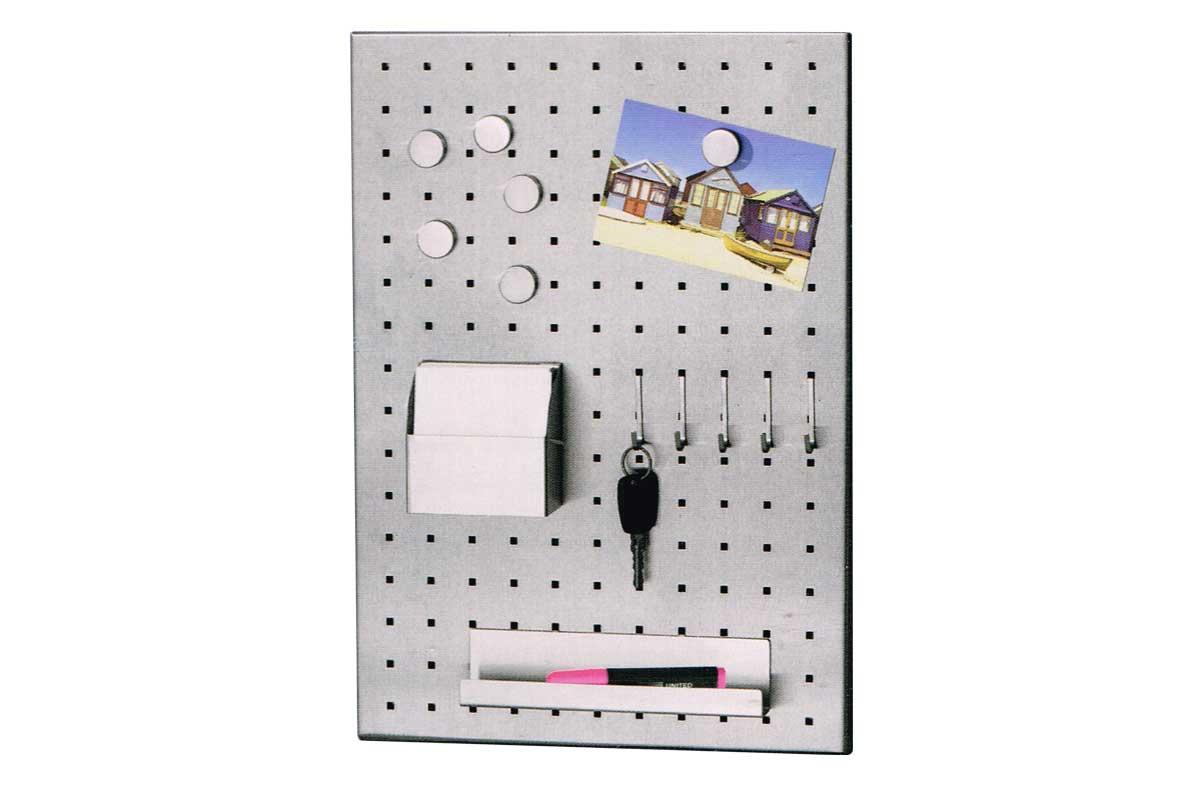 edelstahl magnettafel pinnwand memoboard magnetwand wandtafel pinnboar 35 x 50 ebay. Black Bedroom Furniture Sets. Home Design Ideas