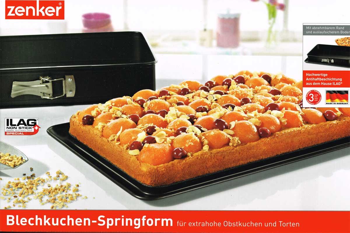 zenker 4151 blechkuchen springform tortenform kuchenform kuchen torte neu ebay. Black Bedroom Furniture Sets. Home Design Ideas