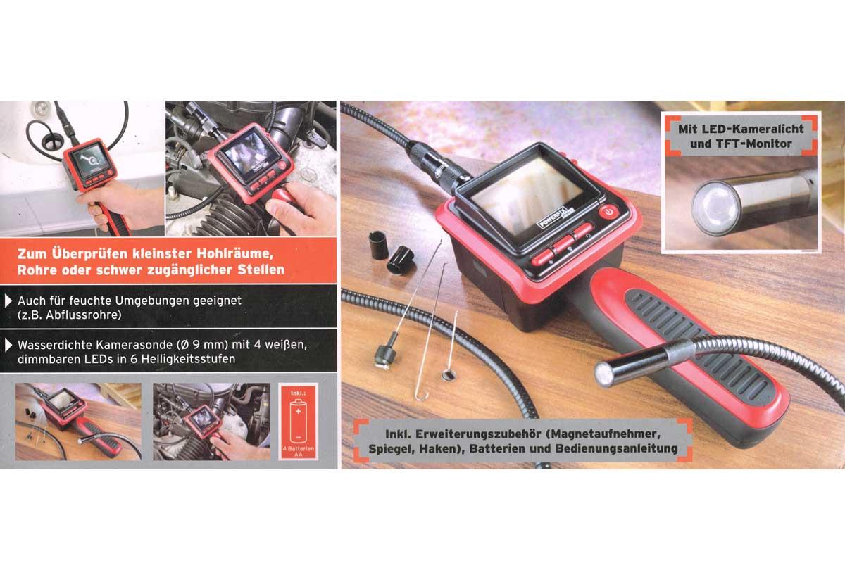 powerfix profi endoskop kamera inspektionskamera. Black Bedroom Furniture Sets. Home Design Ideas