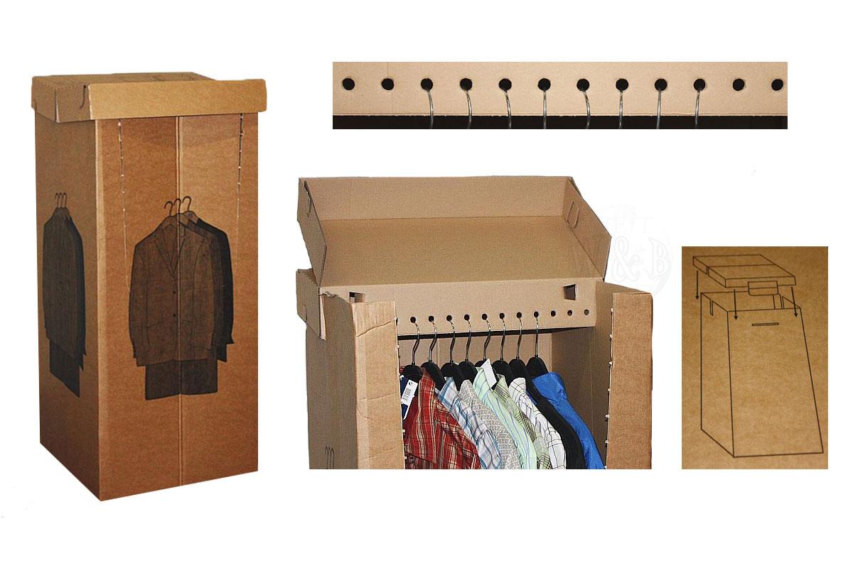 kleiderbox box umzugskartons b gel kleider karton umzugshilfe kleiderkarton neu ebay. Black Bedroom Furniture Sets. Home Design Ideas