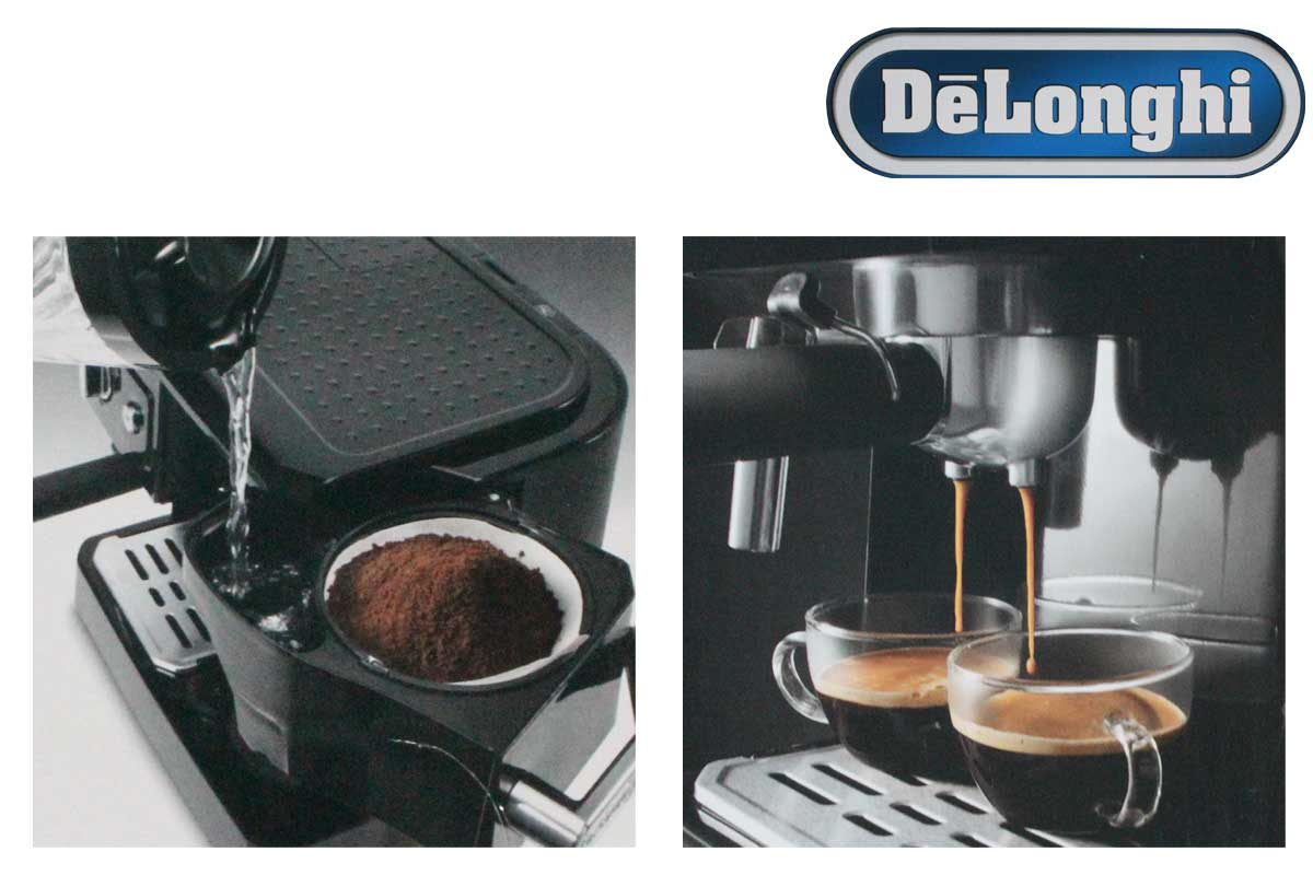 delonghi bco 410 kombi kaffeemaschine filterkaffee espresso latte macchiato neu ebay. Black Bedroom Furniture Sets. Home Design Ideas