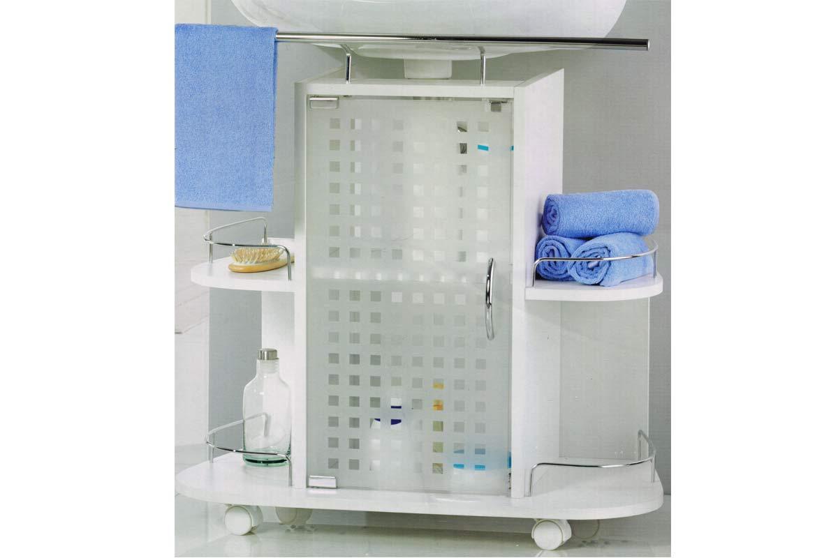 waschbeckenunterschrank waschbecken unterschrank mit praktischem handtuchhalter ebay. Black Bedroom Furniture Sets. Home Design Ideas