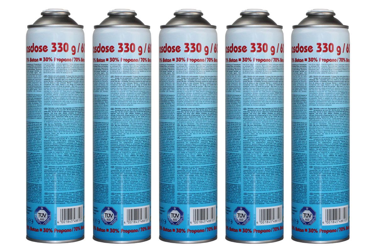 5 st ck druckgasdose 330g 600ml en417 butan propan gas gaskartusche bg. Black Bedroom Furniture Sets. Home Design Ideas