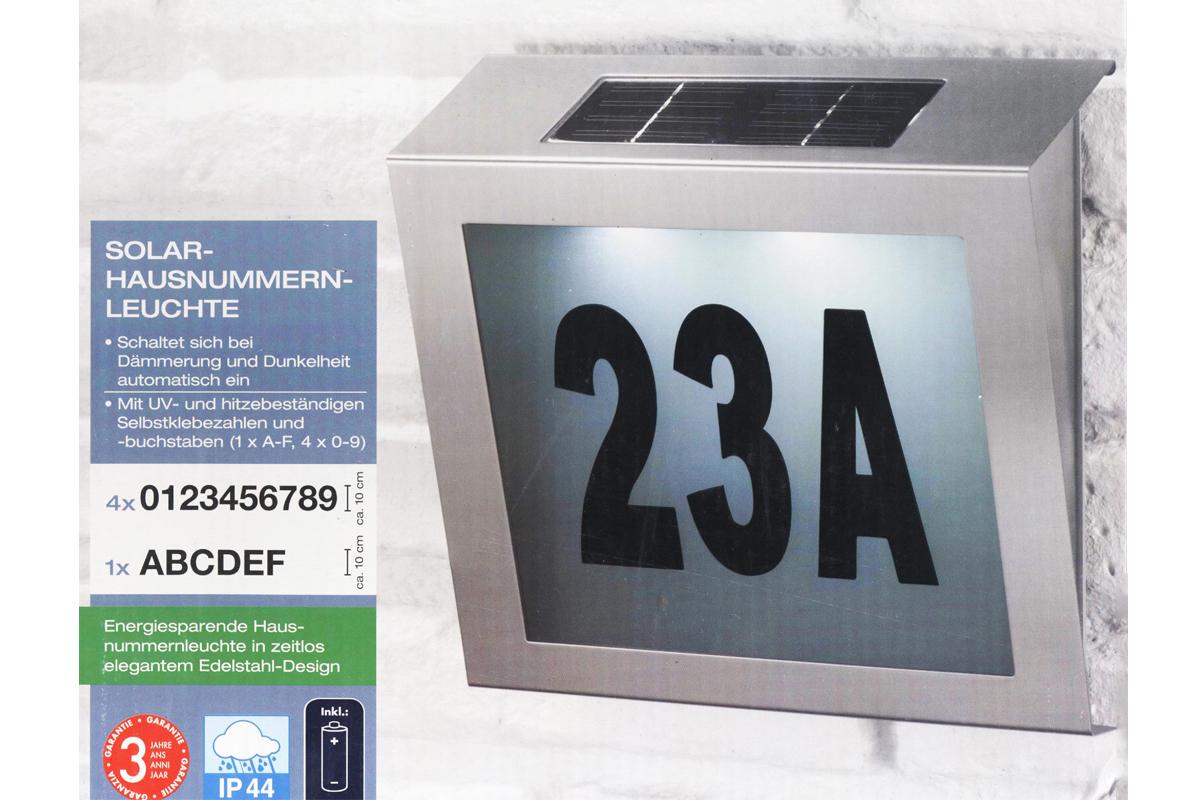 energiespar solar hausnummern leuchte inkl batterie extra. Black Bedroom Furniture Sets. Home Design Ideas