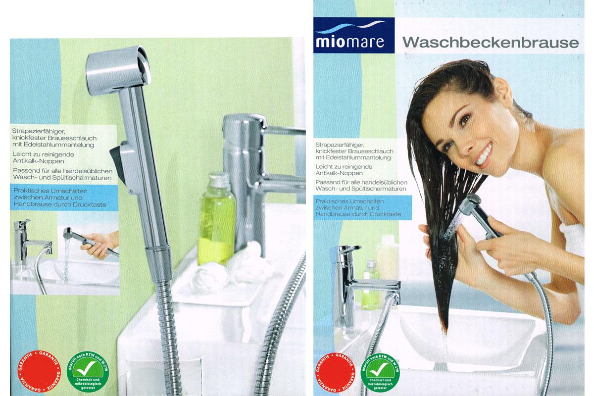 waschbeckenbrause waschbecken handbrause wandhalterung. Black Bedroom Furniture Sets. Home Design Ideas